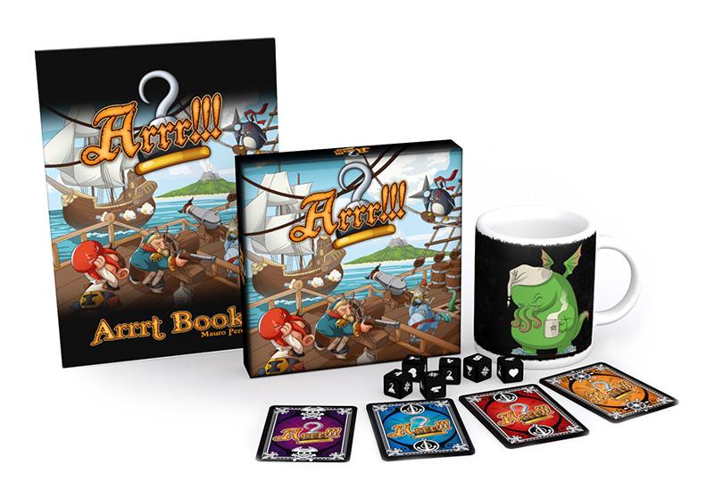 Arrr!!! gioco di pirati completo carte dadi dobloni