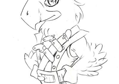 ARRR schizzo  uomo pappagallo