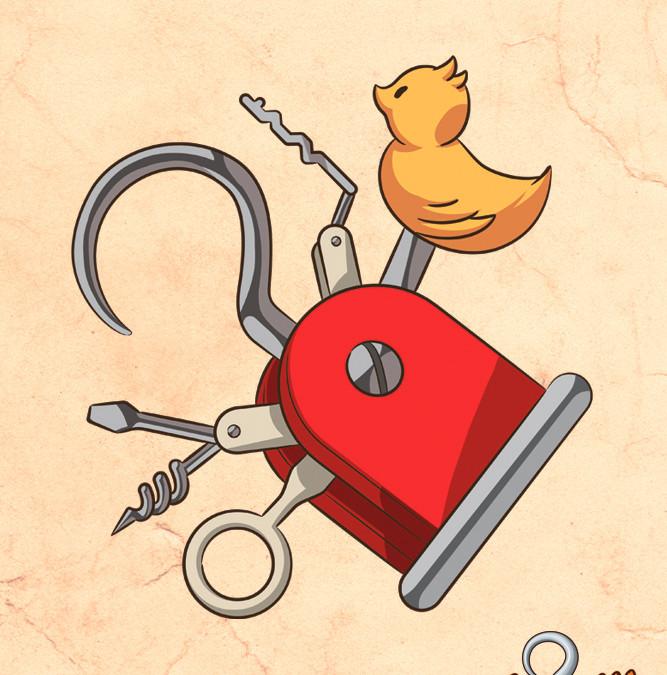 Il miglior utensile per un Pirata: l'uncino svizzero!